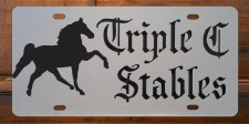 Custom License Plate - Triple C Stables